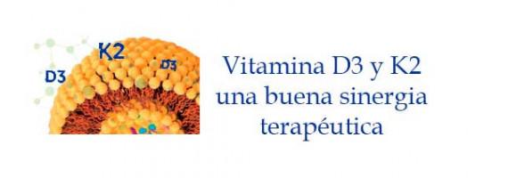 Vitamina D3 y K2 buena sinergia terapéutica